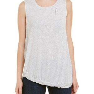 Heather Asymmetrical Shirred Tank Sz XS